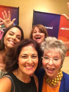 We had so much fun! Selfie with Michele Lepe, Rita Moreno and me, and Sandy Wax, Sprout President photobombing!