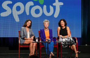 On the main stage with Michele Lepe and Rita Moreno