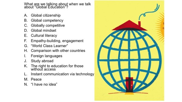 What talk about global ed
